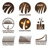 Insieme di logo dei capelli illustrazione vettoriale