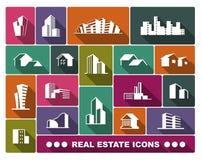 Insieme di logo del bene immobile Immagine Stock