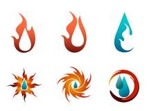 Insieme di logo del combustibile Fotografia Stock