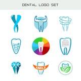 Insieme di logo del dente Simboli medici dentari di sanità Immagini Stock Libere da Diritti