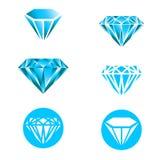 Insieme di logo del diamante Fotografia Stock Libera da Diritti