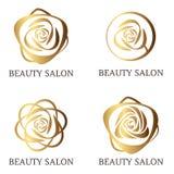 Insieme di logo del fiore illustrazione di stock