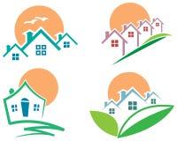 Insieme di logo del paesaggio Immagine Stock Libera da Diritti