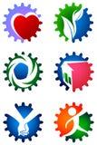Insieme di logo dell'ingranaggio Fotografia Stock