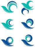 Insieme di logo dell'uccello Immagine Stock Libera da Diritti