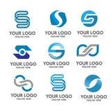 Insieme di logo della corona Fotografia Stock Libera da Diritti