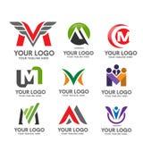 Insieme di logo della lettera m. Fotografie Stock Libere da Diritti