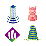Insieme di logo della torre Immagine Stock