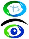Insieme di logo delle mani Fotografia Stock
