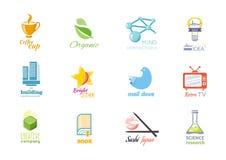 Insieme di Logo Design Flat Icon Immagini Stock Libere da Diritti