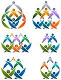 Insieme di logo di lavoro di squadra Fotografia Stock Libera da Diritti