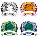 Insieme di logo di pallacanestro Immagine Stock Libera da Diritti