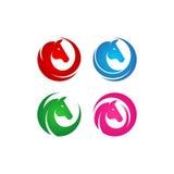 Insieme di logo di vettore della testa di cavallo Immagine Stock