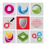 Insieme di logo di vettore di alta qualità Fotografie Stock Libere da Diritti