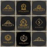 Insieme di lusso di logo illustrazione di stock