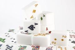 Insieme di Mahjong Fotografia Stock