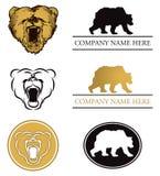 Insieme di marchio dell'orso Fotografia Stock