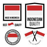 Insieme di marchio di qualità dell'Indonesia per le merci Fotografia Stock