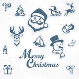 Insieme di Mary Christmas royalty illustrazione gratis