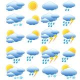 Insieme di meteorologia. Fotografie Stock Libere da Diritti