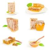 Insieme di miele dolce Immagini Stock