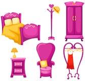 Insieme di mobilia illustrazione di stock