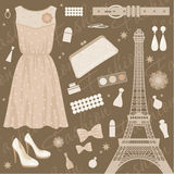 Insieme di modo di Parigi illustrazione vettoriale