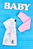 Insieme di modo di estate della neonata Fotografia Stock Libera da Diritti