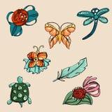 Insieme di modo stile disponibile del disegno dell'illustrazione illustrazione di stock