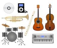 Insieme di musica Immagine Stock