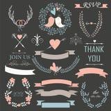 Insieme di nozze Immagini Stock Libere da Diritti