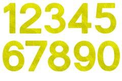 Insieme di numero astratto di fibra Immagine Stock