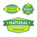 Insieme di organico-bio- etichette Fotografie Stock Libere da Diritti