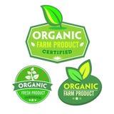 Insieme di organico-bio- etichette Immagini Stock