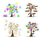 Insieme di originale degli alberi Fotografie Stock