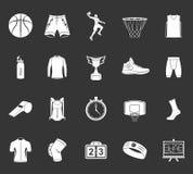 Insieme di pallacanestro delle icone Fotografie Stock Libere da Diritti