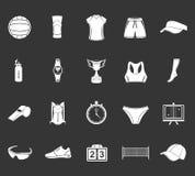 Insieme di pallavolo delle icone Immagine Stock Libera da Diritti