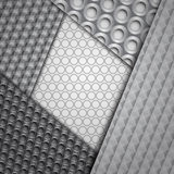 Insieme di parecchi modelli senza cuciture della fibra del carbonio Fotografia Stock