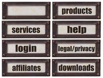 Insieme di parola del websiite di commercio elettronico Fotografia Stock Libera da Diritti