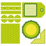 Insieme di Pasqua degli elementi verdi di disegno Fotografia Stock Libera da Diritti
