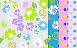 Insieme di picchiettio dei fiori Illustrazione di vettore Immagine Stock Libera da Diritti