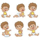 Insieme di piccoli bambini svegli Fotografia Stock