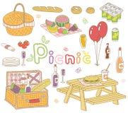 Insieme di picnic Fotografie Stock Libere da Diritti