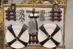 Insieme di picnic Fotografia Stock
