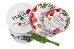 Insieme di Pista e dei piatti della pasta - cucina italiana fotografia stock