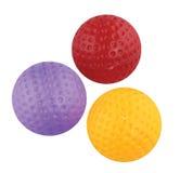 Insieme di plastica del giocattolo di golf isolato Fotografia Stock Libera da Diritti