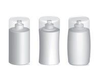 Insieme di plastica di vettore del contenitore delle bottiglie dello spruzzatore Fotografia Stock