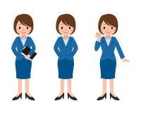 Insieme di posa della donna di affari Immagine Stock Libera da Diritti