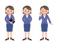 Insieme di posa della donna di affari Immagine Stock