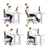 Insieme di posizione di seduta illustrazione di stock